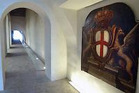 - Genoa, museum of the sea of Galata, coat of arms of the city....- Genova, museo del mare di Galata, stemma della città