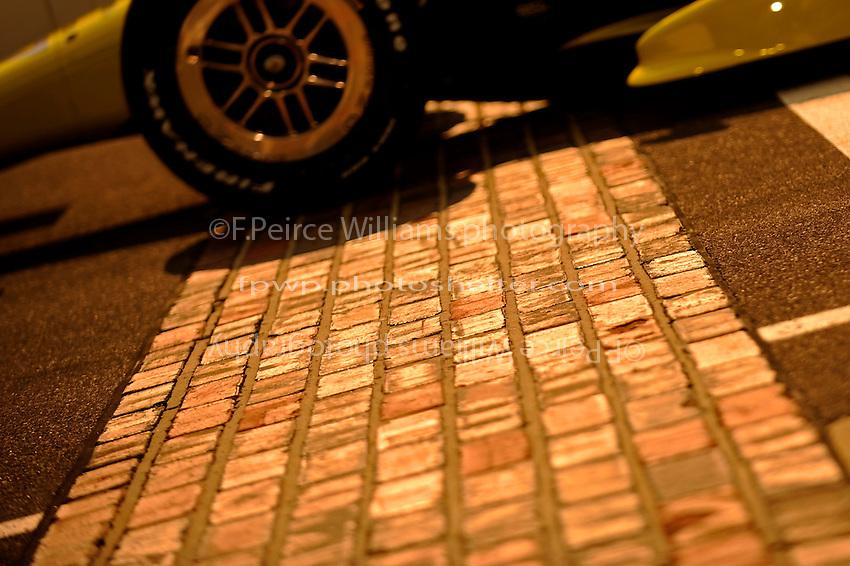 "Evening light on the ""Yard of Bricks"" marking the start/finish line."