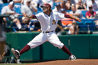 Arizona State's Mike Lambson in Game 4 of the NCAA Division One Men's College World Series on Monday June 21st, 2010 at Johnny Rosenblatt Stadium in Omaha, Nebraska.  (Photo by Andrew Woolley / Four Seam Images)