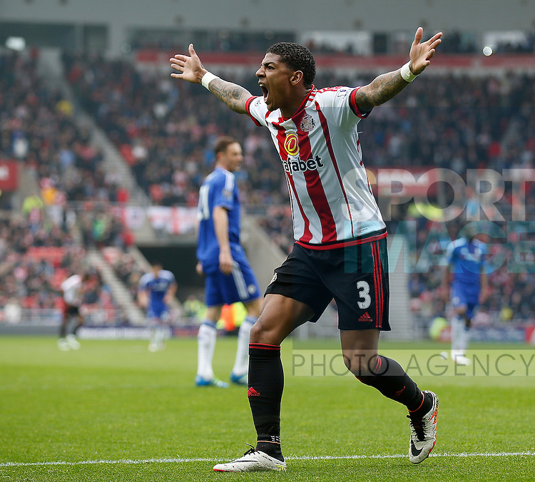 Patrick van Aanholt of Sunderland during the Barclays Premier League match at the Stadium of Light, Sunderland. Photo credit should read: Simon Bellis/Sportimage