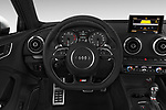 Car pictures of steering wheel view of a 2015 Audi S3 Premium Plus 4 Door Sedan