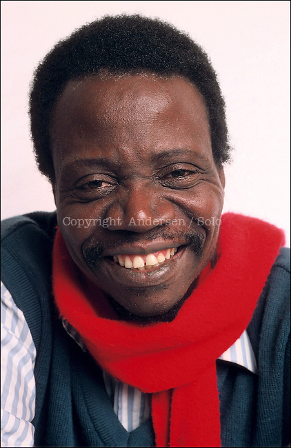 Sony Labou Tansi, Congolese writer in 1987.