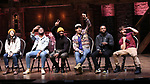 "Lauren Boyd, Deon'te Goodman, Terrance Spencer, Anthony Lee Medina, Jimmie ""JJ"" Jeter and Thayne Jasperson during the eduHAM Q & A before The Rockefeller Foundation and The Gilder Lehrman Institute of American History sponsored High School student #EduHam matinee performance of ""Hamilton"" at the Richard Rodgers Theatre on November 13, 2019 in New York City."