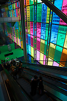 The Colored window of Montreal Convention Center<br />