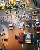 MALAYSIA, Kuala Lumpur, high angle view of traffic at Bintang street
