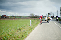 Viacheslav Kuznetsov (RUS/Katusha) solo attempt in the lead<br /> <br /> 78th Gent - Wevelgem in Flanders Fields (1.UWT)