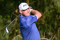 Lee Westwood (ENG) watches his tee shot on 9 during round 1 of the World Golf Championships, Mexico, Club De Golf Chapultepec, Mexico City, Mexico. 3/2/2017.<br />