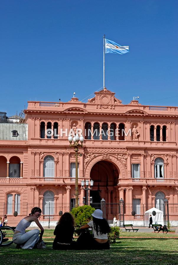 Palácio Casa Rosada e Plaza de Mayo. Buenos Aires. Argentina. 2008. Foto de Renata Mello.