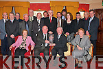 THE WORLD IS YOUR OYSTER: On his retirement after 30 years as chairman, Michael Quinn (seated 2nd from left) received an appreciation award from Tony Scanlon, Chairman of Tralee Oyster Fishery Society, last Saturday night at The Meadowlands Hotel, Tralee. Also seated were Eileen Quinn and Betty Scanlon. Back row l-r: Frank Gleasure, Sean Hartnett, John Brown, Enda Boland, Sean McBride, John OConnor, Mike Lynch, Pat Keogh (CEO of BIM), Denis OShea, Padraigh ODonnell, Vera ODonovan, John Walsh, Paddy OCallaghan and Noel Mulligan..