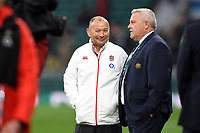 England Rugby Head Coach Eddie Jones looks on during the pre-match warm-up. Old Mutual Wealth Series International match between England and Australia on November 18, 2017 at Twickenham Stadium in London, England. Photo by: Patrick Khachfe / Onside Images