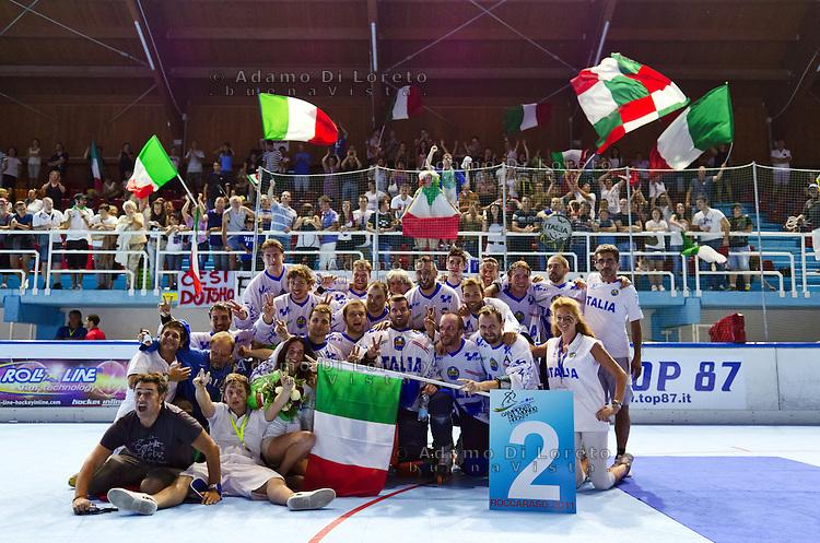 ROCCARASO (AQ):MONDIALI DI HOCKEY INLINE FINALE TRA ITALIA E REPUBBLICA CECA - FINAL ITALY AND CZECH. PHOTO ADAMO DI LORETO