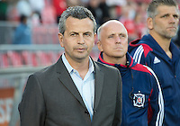 12 September 2012:  Chicago Fire head coach Frank Klopas  during an MLS game between the Chicago Fire and Toronto FC at BMO Field in Toronto, Ontario..The Chicago Fire won 2-1..