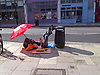 Making the best of living on the street in Fortess Road, Tuffnel Park, London N7<br /> <br /> Stock Photo by Paddy Bergin