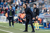 26th January 2020; Coliseum Alfonso Perez, Madrid, Spain; La Liga Football, Club Getafe Club de Futbol versus Real Betis; Jose Bordalas Coach of Getafe CF  gets animated on the sideline