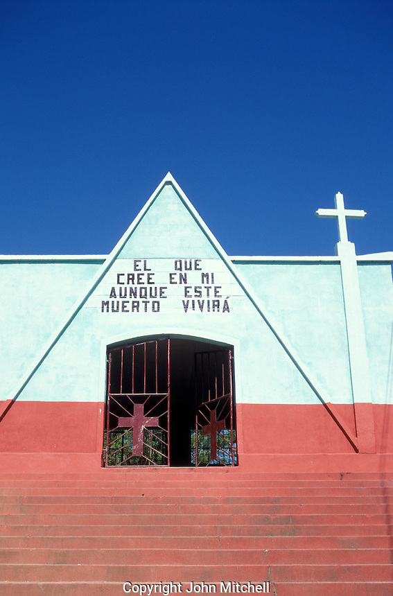 Church in the town of Livingston on the Caribbean coast of Guatemala
