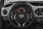 Car pictures of steering wheel view of a 2015 Toyota YARIS Dynamic 5 Door Hatchback 2WD Steering Wheel