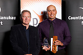 Cocah of the Year winner Richie Blackmore. Counties Manukau Sport Sporting Excellence Awards held at Testra Clear Pacific Events Centre, Manukau, on Thursday 9th December 2010.
