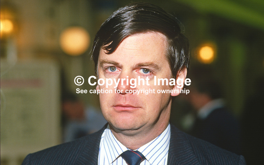 Simon Coombs, MP, Conservative Party, UK, 19871020SC..Copyright Image from Victor Patterson, 54 Dorchester Park, Belfast, UK, BT9 6RJ..Tel: +44 28 9066 1296.Mob: +44 7802 353836.Voicemail +44 20 8816 7153.Skype: victorpattersonbelfast.Email: victorpatterson@me.com.Email: victorpatterson@ireland.com (back-up)..IMPORTANT: If you wish to use this image or any other of my images please go to www.victorpatterson.com and click on the Terms & Conditions. Then contact me by email or phone with the reference number(s) of the image(s) concerned.