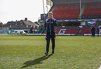 Dayle Southwell of Wycombe Wanderers checks out the pitch ahead of the Sky Bet League 2 match between Grimsby Town and Wycombe Wanderers at Blundell Park, Cleethorpes, England on 4 March 2017. Photo by Andy Rowland / PRiME Media Images.