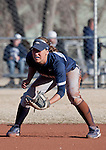 March 10, 2012:   Nevada Wolf Pack shortstop Karley Hopkins against the San Diego Toreros during their NCAA softball game played as part of the The Wolf Pack Classic at Christina M. Hixson Softball Park on Saturday in Reno, Nevada.