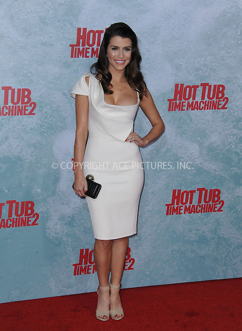 WWW.ACEPIXS.COM<br /> <br /> February 18 2015, LA<br /> <br /> Bianca Haase at the premiere of Paramount Pictures' 'Hot Tub Time Machine 2' at the Regency Village Theatre on February 18, 2015 in Westwood, California.<br /> <br /> <br /> By Line: Peter West/ACE Pictures<br /> <br /> <br /> ACE Pictures, Inc.<br /> tel: 646 769 0430<br /> Email: info@acepixs.com<br /> www.acepixs.com