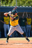 Wayne State Warriors second baseman Jeremy Carrell #5 during a game against Slippery Rock at Chain of Lakes Stadium on March 15, 2013 in Winter Haven, Florida.  Illinois State defeated Long Island 6-4.  (Mike Janes/Four Seam Images)