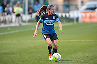 Kansas City, Mo. - Saturday April 23, 2016: FC Kansas City midfielder Heather O'Reilly (9) during a match against Portland Thorns FC at Swope Soccer Village. The match ended in a 1-1 draw.