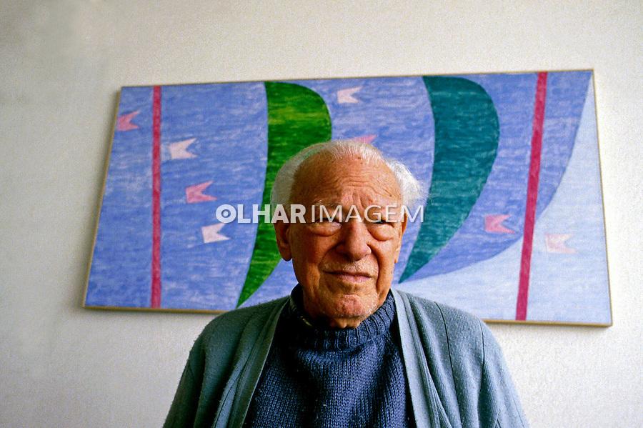 Pessoa. Personalidade. Pintor Alfredo Volpi. SP. 1985. Foto de Juca Martins.