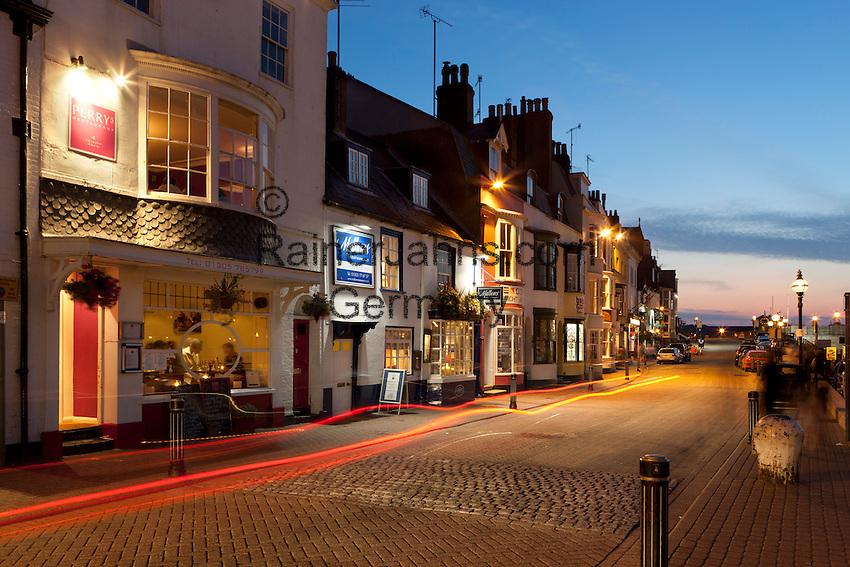 Great Britain, England, Dorset, Weymouth: Restaurants along the Old Harbour | Grossbritannien, England, Dorset, Weymouth: Restaurants am Old Harbour