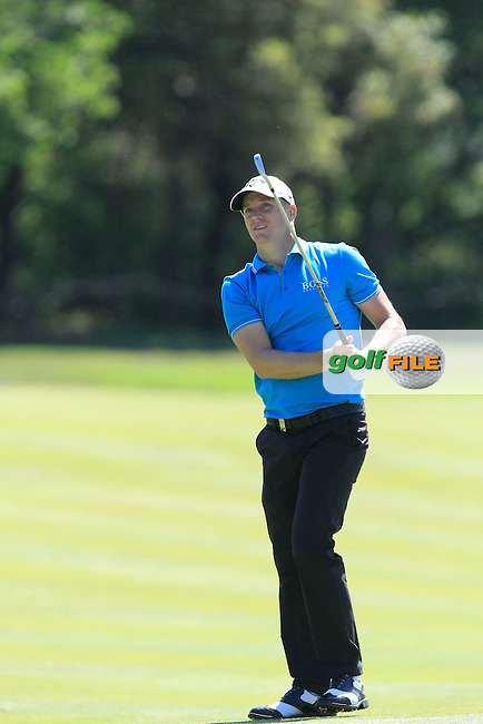 Alex Noren (SWE) on the 9th fairway during Round 3 of the Open de Espana  in Club de Golf el Prat, Barcelona on Saturday 16th May 2015.<br /> Picture:  Thos Caffrey / www.golffile.ie