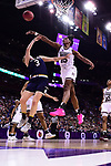 COLUMBUS, OH - APRIL 1: Teaira McCowan #15 of the Mississippi State Bulldogs blocks the shot of Marina Mabrey #3 of the Notre Dame Fighting Irish during the championship game of the 2018 NCAA Division I Women's Basketball Final Four at Nationwide Arena in Columbus, Ohio. (Photo by Ben Solomon/NCAA Photos via Getty Images)