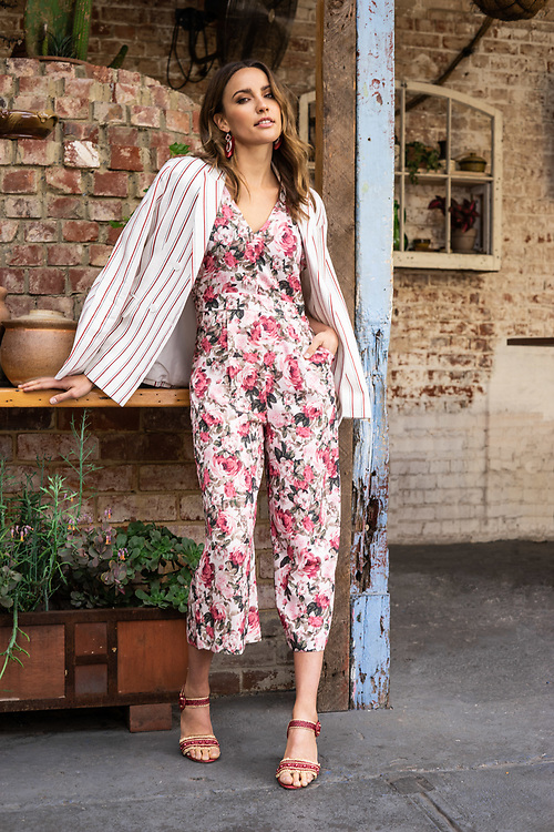 Sunday Mail Fashion with Mirella , Myer spring summer , with Model Rachael Finch at Roxies Adelaide . . Photo: Nick Clayton