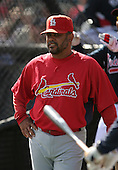 Jose Oquendo of the St. Louis Cardinals vs. the Atlanta Braves March 16th, 2007 at Champion Stadium in Orlando, FL during Spring Training action.  Photo copyright Mike Janes Photography 2007.