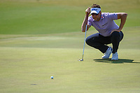 Ian Poulter (GBR) looks over his putt on 17 during Round 2 of the Zurich Classic of New Orl, TPC Louisiana, Avondale, Louisiana, USA. 4/27/2018.<br /> Picture: Golffile | Ken Murray<br /> <br /> <br /> All photo usage must carry mandatory copyright credit (&copy; Golffile | Ken Murray)
