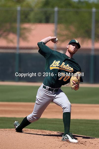 Casey Meisner - Oakland Athletics 2016 spring training (Bill Mitchell)