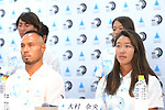 (L-R) <br /> Masatoshi Ono, <br /> Nao Omura, <br /> AUGUST 4, 2016 - Surfing : <br /> Nippon Surfing Association holds a press conference after it was decided that <br /> the sport of surfing would be added to the Tokyo 2020 Summer Olympic Games on August 3rd, 2016 <br /> in Tokyo, Japan. <br /> (Photo by AFLO SPORT)