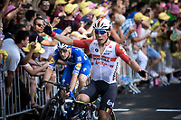 Caleb Ewan (AUS/Lotto Soudal) wins the bunch sprint to finish line <br /> <br /> Stage 11: Albi to Toulouse (167km)<br /> 106th Tour de France 2019 (2.UWT)<br /> <br /> ©kramon
