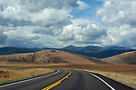 Open road and big sky in Montana, USA