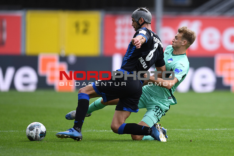 Klaus Gjasula (SC Paderborn #8) gegen Stefan Posch (TSG 1899 #38)<br /><br />Foto: Edith Geuppert/GES /Pool / Rauch / nordphoto <br /><br />DFL regulations prohibit any use of photographs as image sequences and/or quasi-video.<br /><br />Editorial use only!<br /><br />National and international news-agencies out.