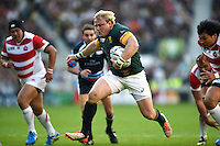 Adriaan Strauss of South Africa runs in a try. Rugby World Cup Pool B match between South Africa and Japan on September 19, 2015 at the Brighton Community Stadium in Brighton, England. Photo by: Patrick Khachfe / Onside Images