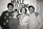 Perry Stephens, Candice Earley and Ernest Townsend attending a party for the Miracle Publishing Company on February 1, 1984 in New York City.