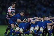 8th September 2017, RDS Arena, Dublin, Ireland; Guinness Pro14 Rugby, Leinster versus Cardiff Blues; Luke McGrath (Leinster) puts in to the scrum