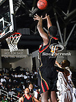 Grambling State Tigers center Peter Roberson (40) in action during the SWAC Tournament game between the Grambling State Tigers and the Mississippi Valley State Delta Devils at the Special Events Center in Garland, Texas. Grambling State defeats Mississippi Valley 65 to 62