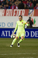Barcelona´s Andres Iniesta during 2014-15 Spanish King Cup match between Atletico de Madrid and Barcelona at Vicente Calderon stadium in Madrid, Spain. January 28, 2015. (ALTERPHOTOS/Luis Fernandez) /nortephoto.com<br />