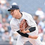 Masahiro Tanaka (Yankees), JULY 9, 2015 - MLB : New York Yankees starting pitcher Masahiro Tanaka throws the ball during  baseball game against the Oakland Athletics at Yankee Stadium in New York, United States. (Photo by AFLO)
