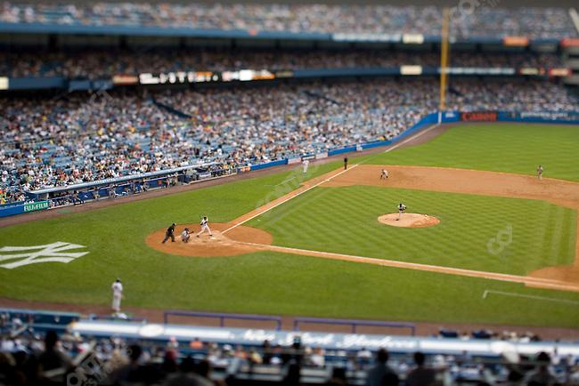 New York Yankees baseball team hosts the New York Mets at Yankee Stadium (Yankees win 11-8). The Bronx, New York, NY. June 16, 2007