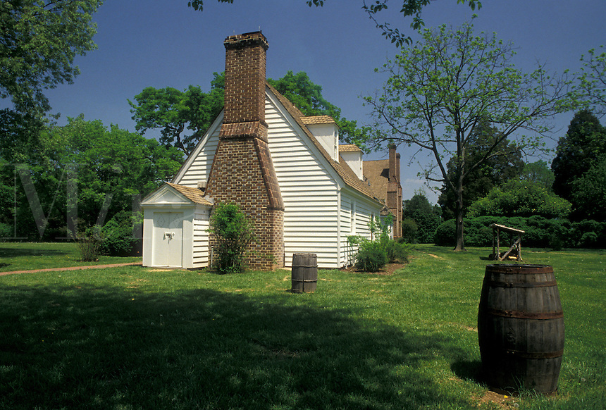 AJ4208, George Washington, birthplace, Popes Creek Plantation, George Washington Birthplace National Monument, Virginia, Kitchen House at Popes Creek Plantation in George Washington Birthplace Nat'l Monument in the state of Virginia.