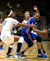 during the game against Kansas at Haas Pavilion in Berkeley, California on December 21st, 2012.  California defeated Kansas, 88-79.