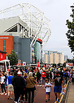 Fans arrive at the ground during the Premier League match at Old Trafford Stadium, Manchester. Picture date: September 24th, 2016. Pic Sportimage