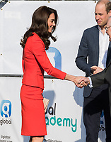 HAYES, UNITED KINGDOM - APRIL 20: Catherine, Duchess of Cambridge &amp; William, Duke of Cambridge attends the official opening of The Global Academy in support of Heads Together on April 20, 2017 in Hayes, England. <br /> CAP/JOR<br /> &copy;JOR/Capital Pictures
